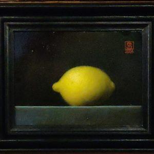 Citron af Niels Erik Skovballe - Stilleben i olie på lærred