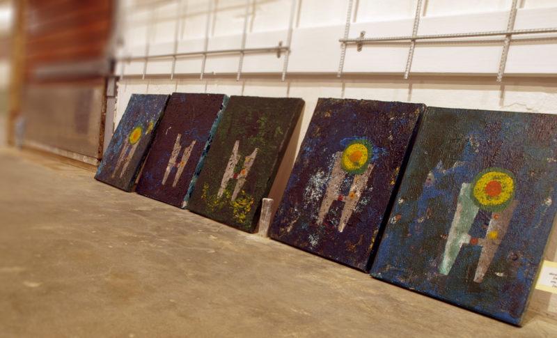 Medium store billeder af JesPere, Jesper Schytte, Akryl på Lærred, h:30x b:24cm,