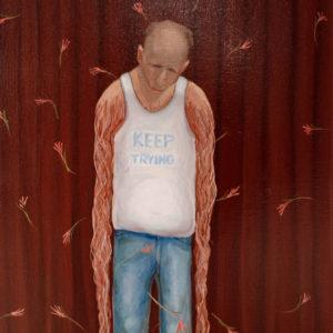 Keep Trying, 35x60 cm, Olie på lærred, Torben Mersholm