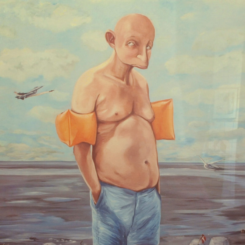 Ordleg, Strandet, Torben Mersholm, Kunstprint, Gliche print,