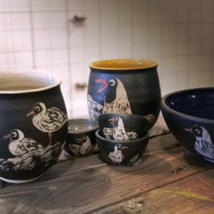 Margueritstel, Mågestel, Keramik, ler, ridset, Keramikmakkerne