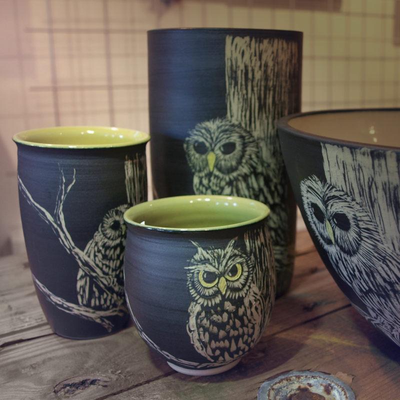 Uglestel, Margueritstel, Mågestel, Keramik, ler, ridset, Keramikmakkerne