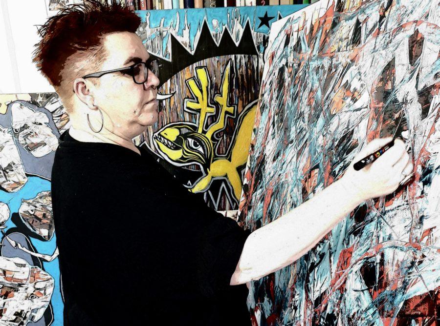 Valentina djurhuus malerprocess urban-art