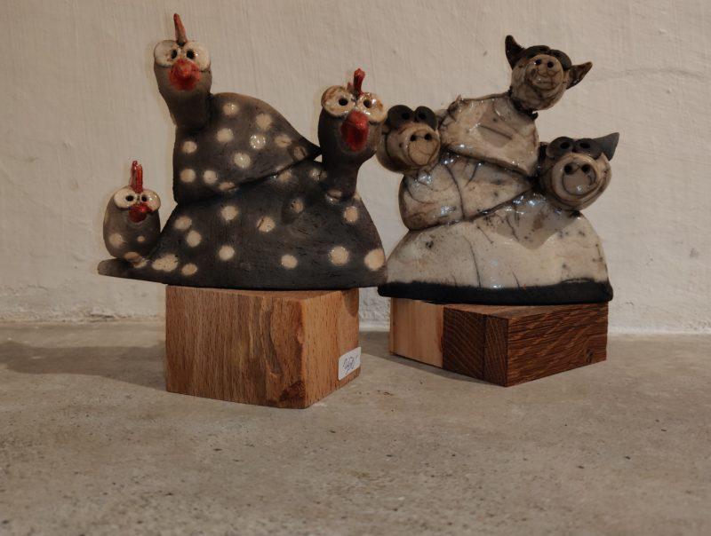 Ann-Sofia Dvinge-Baun - Dyr-raku-keramik
