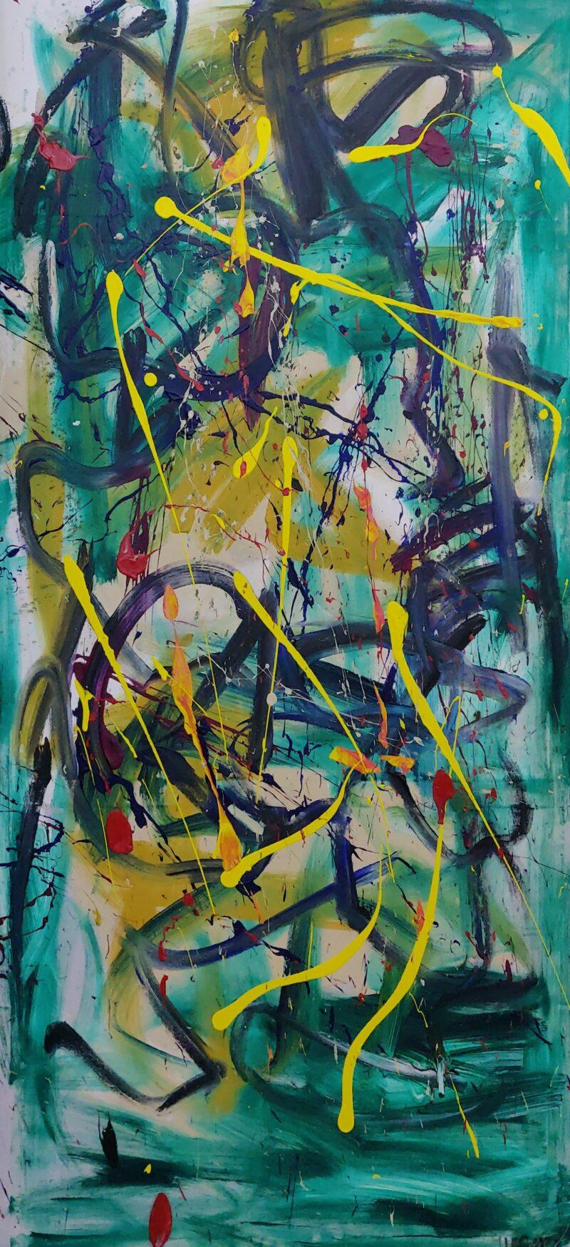 Jesper nørgaard green abstraction II